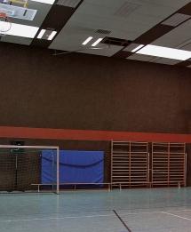 Nach den Sommerferien wieder offen - die Schulsporthalle Otterbach